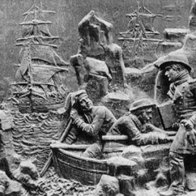 La decouverte de la terre adelie monument commemoratif a dumont d urville
